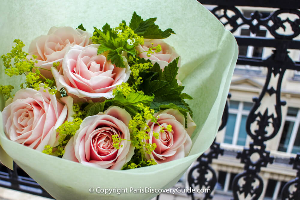 Bouquet of roses from Stéphane Chapelle Florist