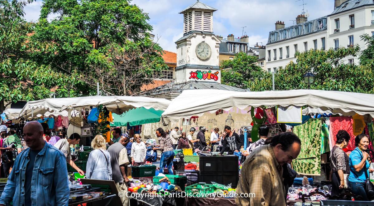 Paris flea market at Marché d'Aligre in the 12th arrondissement