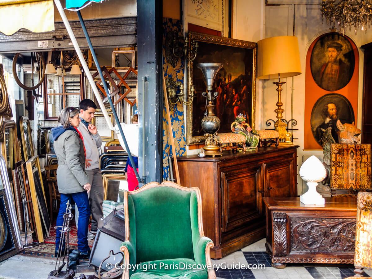 Treasures at Les Puces, the huge Paris flea market at Saint-Ouen