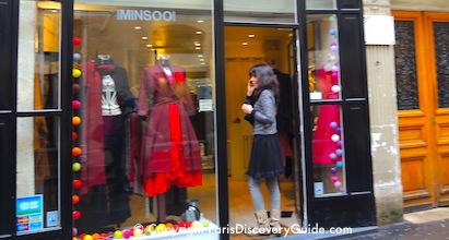 Boutique in the Marais neighborhood in Paris
