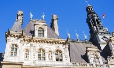 Hotel de Ville - Location for Liberation of Paris Festivities