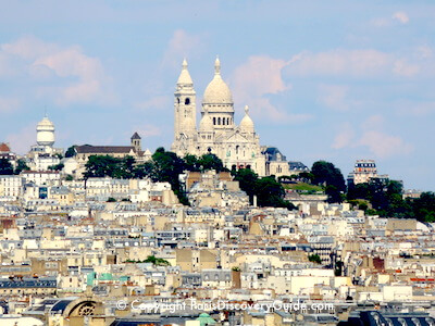 Sacre Coeur in Montmartre in Paris