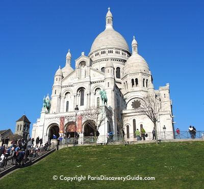 Sacre Coeur in Montmartre on a sunny January day
