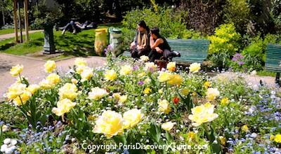 Paris Parks and Gardens - Square Marius Constant