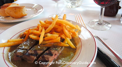 Steak-frites at Relais l'Entrecote in Paris