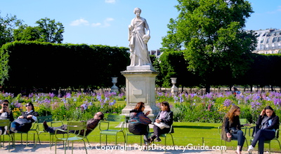 Tuileries Garden in Paris in May