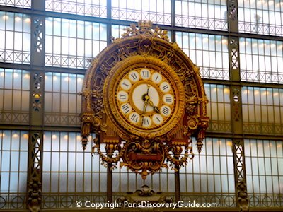 Ornate clock in Musee d'Orsay in Paris