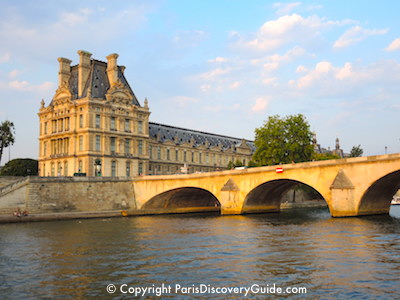 Seine River and part of the Louvre, Paris