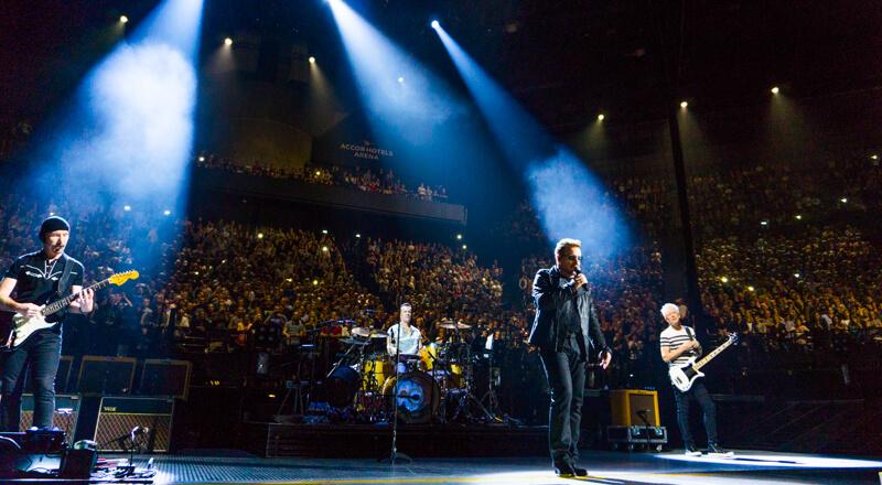 U2 in concert at AccorHotels Arena