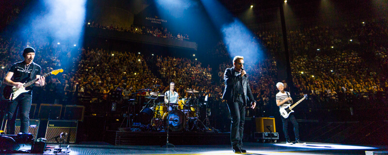 U2 in concert at Accorhotels Arena in Paris