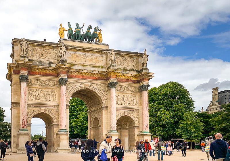 Arc de Triomphe du Carrousel across from the Louvre
