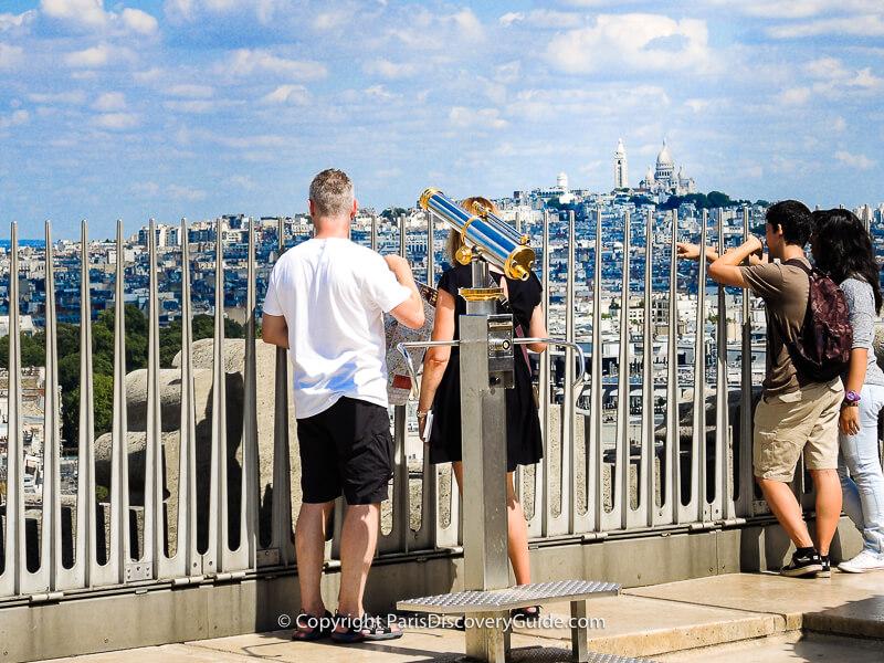 Rooftop observation deck at Arc de Triomph, looking across to Montmartre & Sacre Coeur