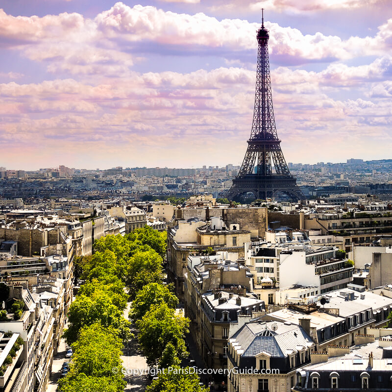 Enjoy the stellar view of 16th arrondissement rooftops and across the river, the Eiffel Tower from the Arc's rooftop terrace