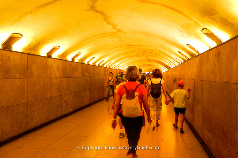 The underground tunnel that lets you bypass the traffic rotary around the Arc