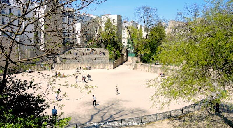 Arènes de Lutèce in Paris's Latin Quarter