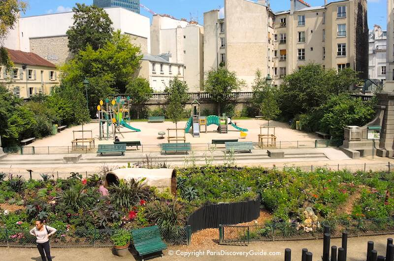 Paris - Square Capitan playground and garden