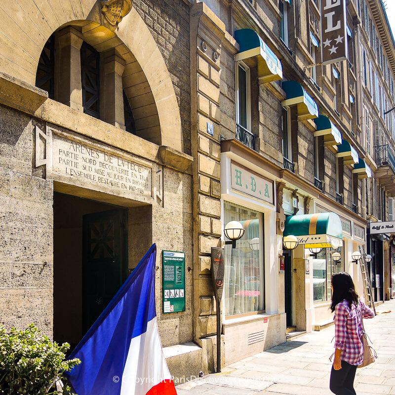 Rue Monge entrance to Arènes de Lutèce