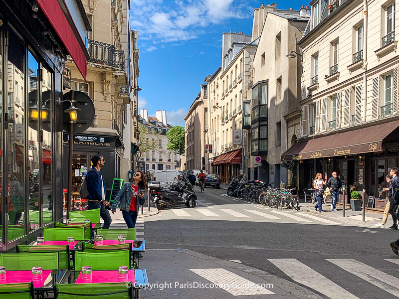 Bistros on Rue Thouin near Place Constrascarpe