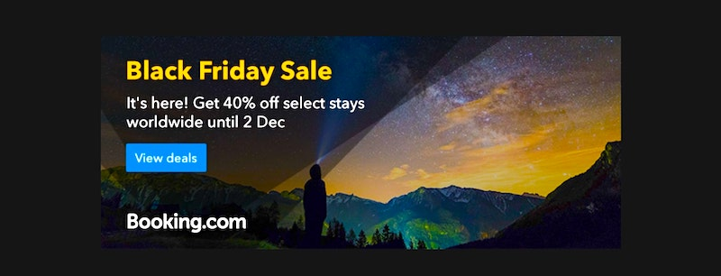 Black Friday sale at Booking.com