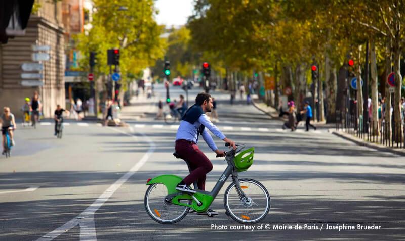 Car-free day in Paris