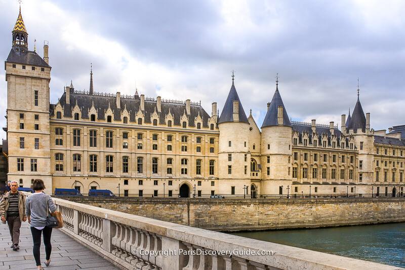 Part of the Conciergerie, seen from the Pont au Change bridge