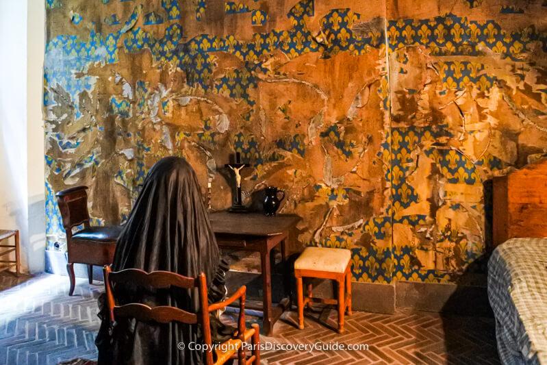 Re-creation of Marie Antoinette's cell in La Conciergerie