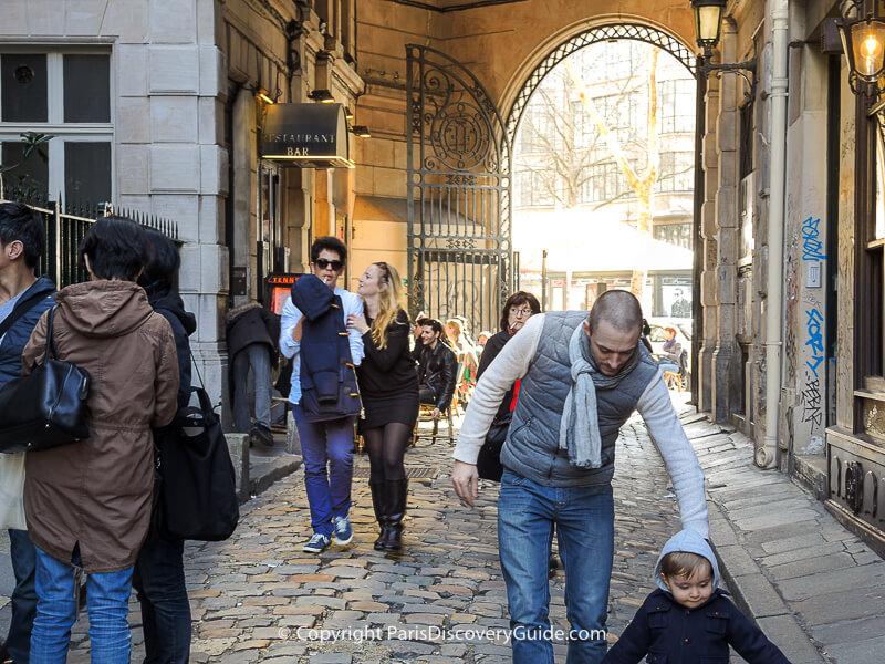 Rue du Commerce original cobblestones, somewhat larger than modern cobblestones used in Paris today