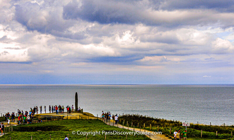 Pointe du Hoc Ranger Monument overlooking Omaha Beach, France