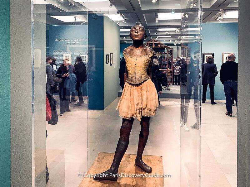 "Edgar Degas exhibited ""Petite Danseuse de 14 Ans"" (Small Dancer, Aged Fourteen) in an 1881 Impressionist exhibition"
