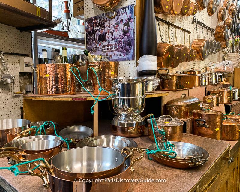 New copper cookware at E. Dehillerin