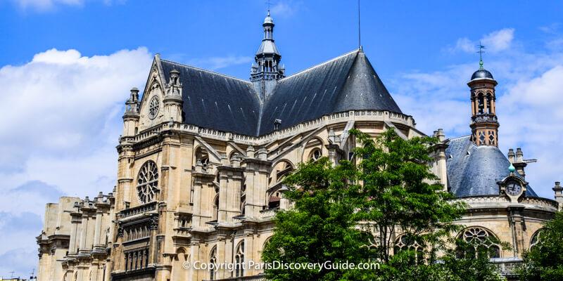 Saint Eustasche Church in Paris - concert schedule