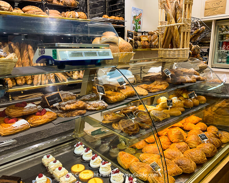 Pastries in a Montmartre bakery