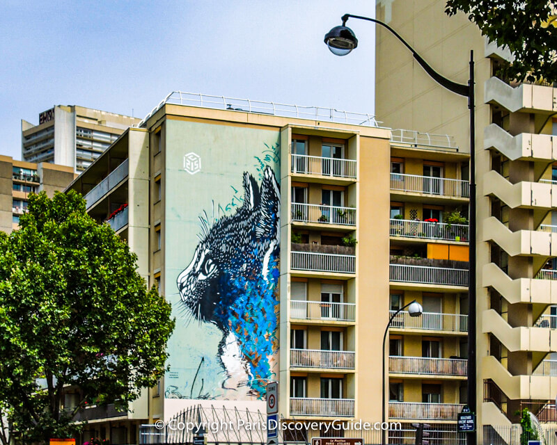 The Cat - street art in Paris's 13 arrondissement