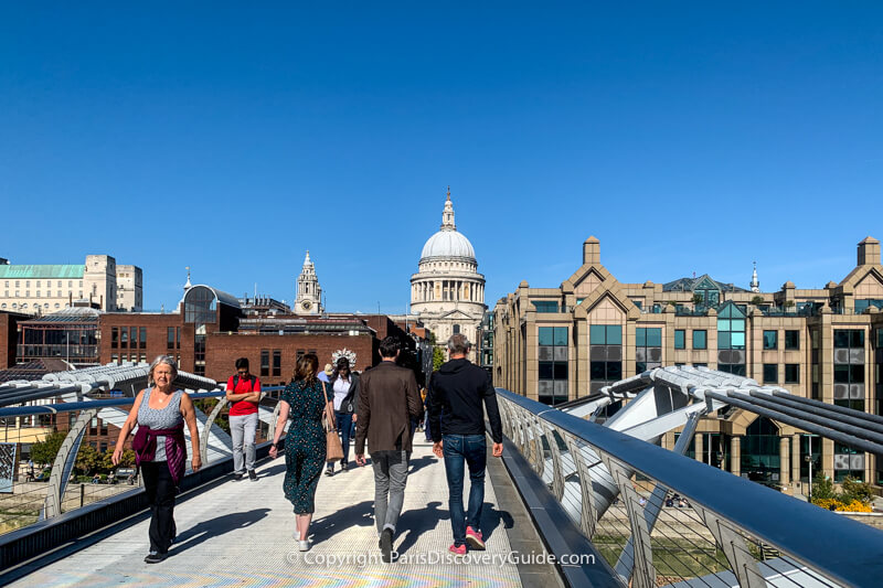 The Millennium Bridge, with St Paul's Cathedral in the background
