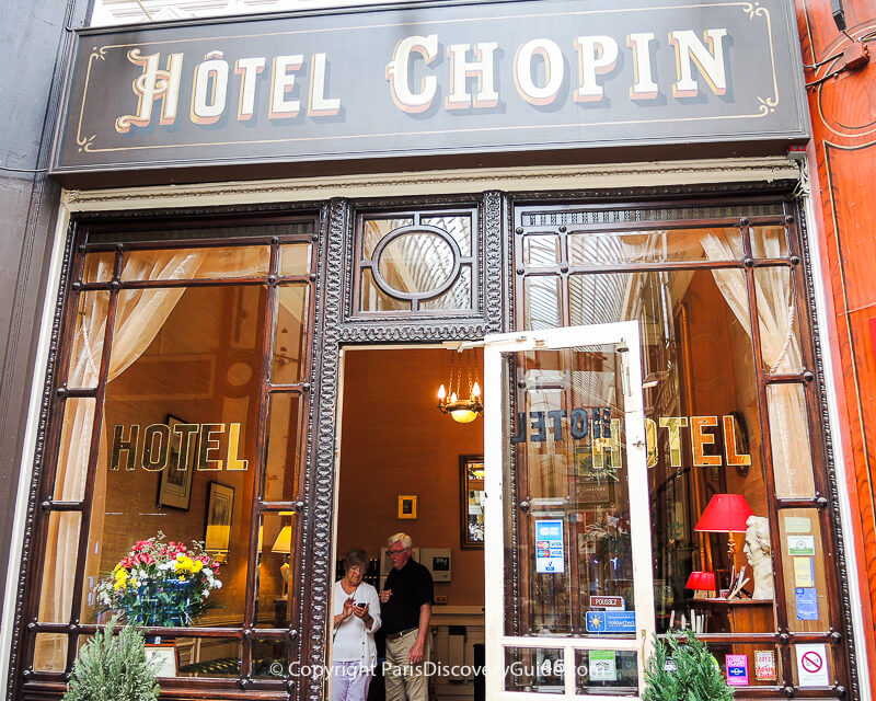Entrance to Hotel Chopin