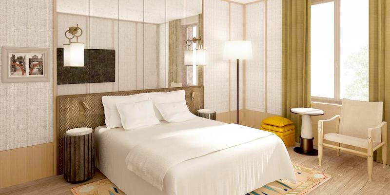 Guestroom at the newly renovated 4-star Le Belgrand Hotel Paris Champs Élysées