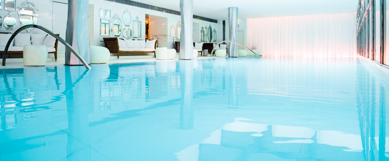 Swimming pool at Le Royal Monceau Hotel in the 8th arrondissement