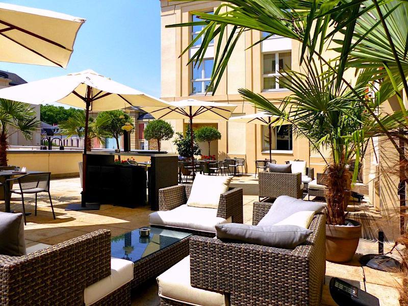 Terrace at Hotel Le Louis Versailles Chateau