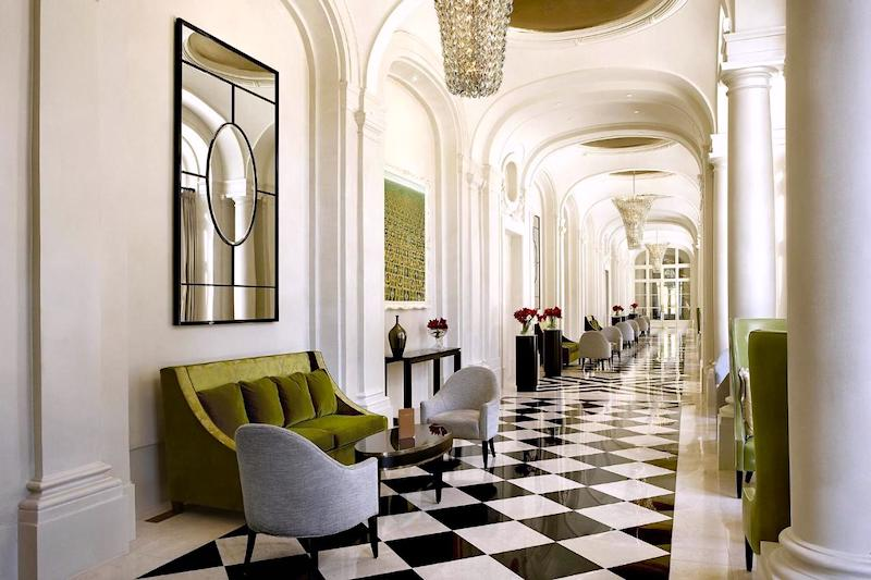 Hall of Mirrors at the Waldorf Astoria Versailles resort