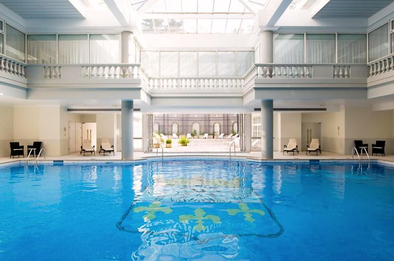 Pool in the Guerlain Spa at the Waldorf Astoria Versailles-Trianon hotel