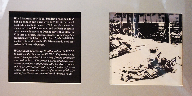 Part of a display about the Liberation of Paris at the Musée de la Libération de Paris
