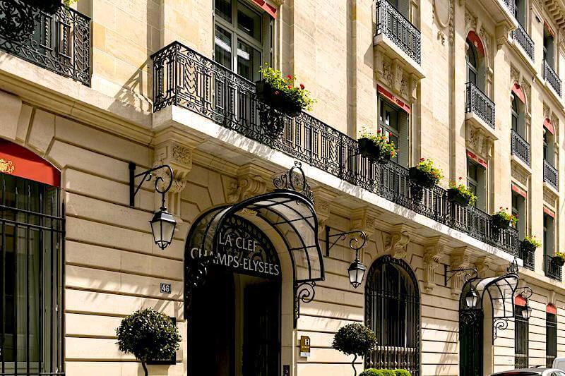 La Clef Champs Élysées Paris in a classic Haussmannian building in the 8th district