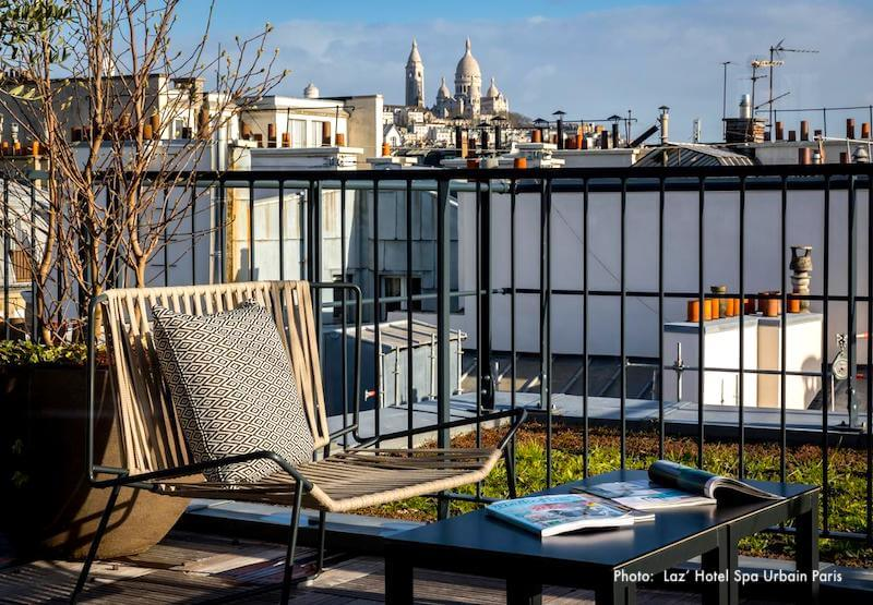 View of Sacre Coeur and Montmartre from Laz' Hôtel Spa Urbain
