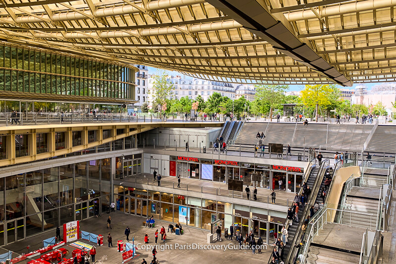Les Halles shopping mall under the golden canopy