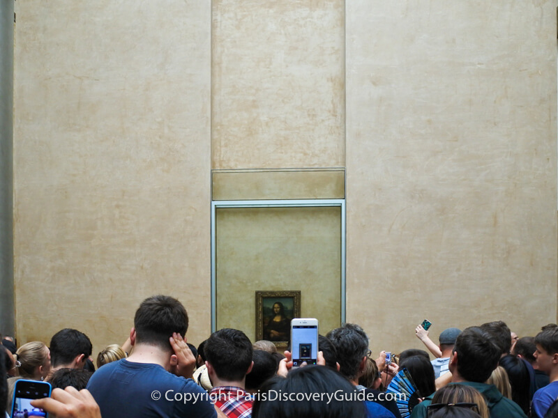 Mona Lisa on display in the Louvre (photographed during an earlier visit)