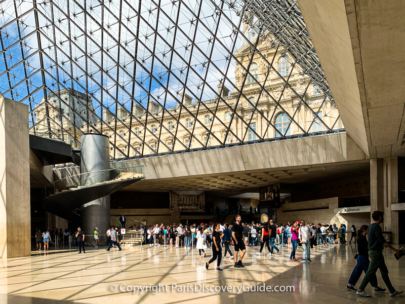 Under the Louvre's Pyramid