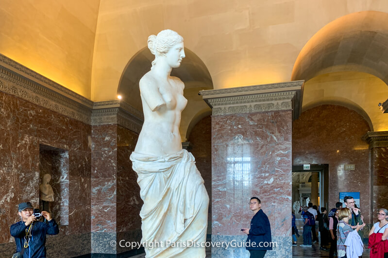Psyche Revived by Cupid's Kiss in the Louvre's Greek Antiquities Galleries