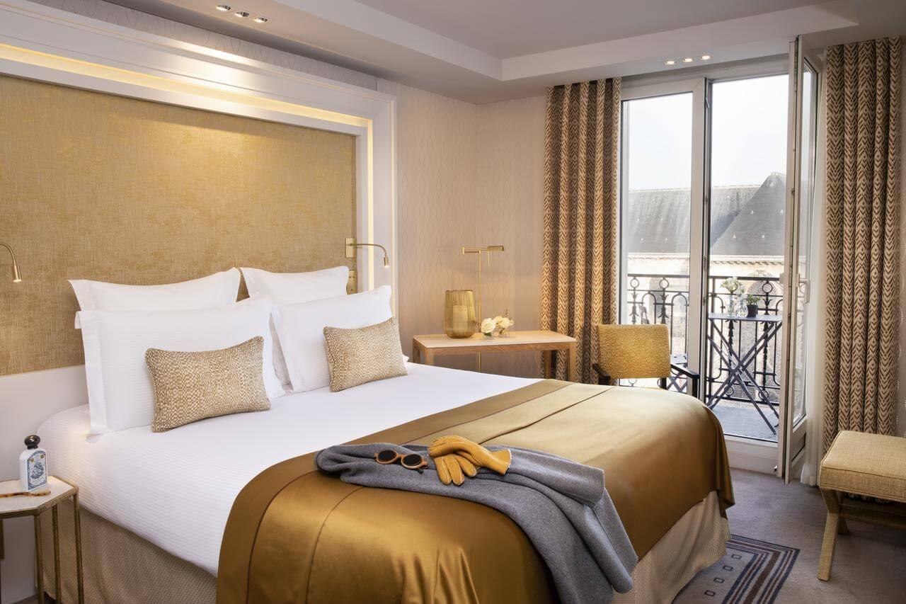 Hotel Madison guest room with Saint-Germain-des-Prés Church view