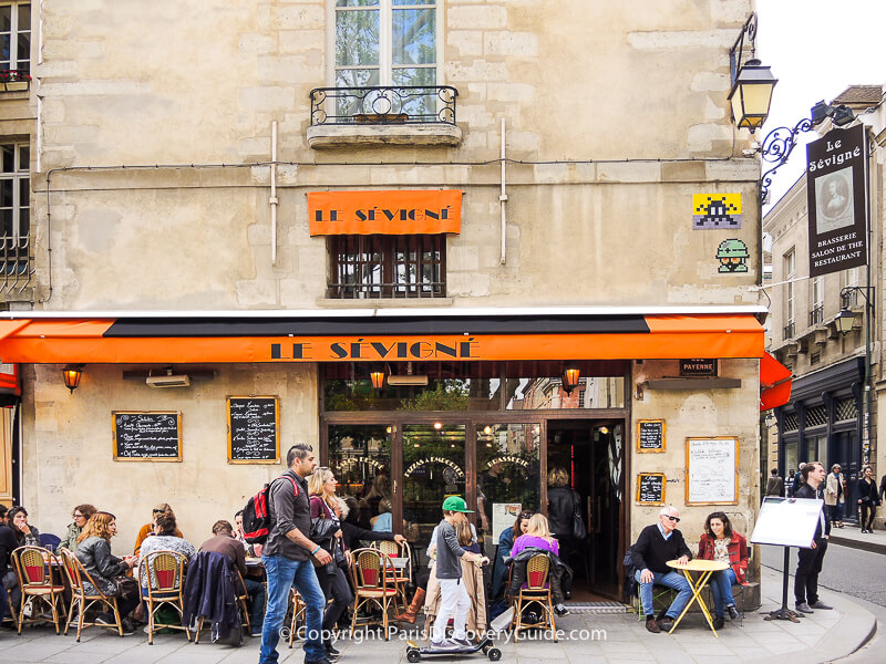Le Sévigné Brasserie near the Picasso Museum in the Upper Marais