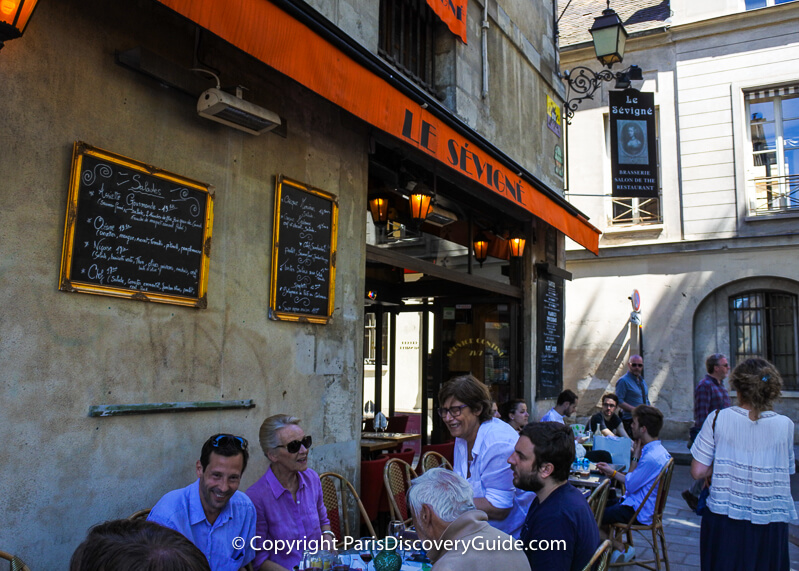 Le Sévigné at 15 Rue Payenne in the Marais, Paris